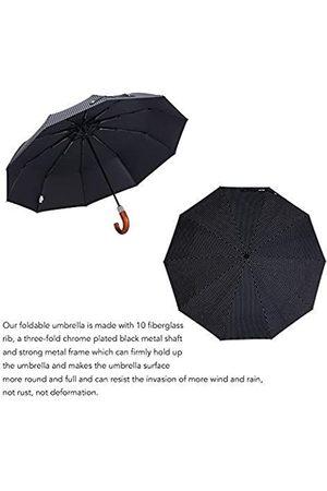 Leodauknow Automatischer kompakter Regenschirm, winddicht, für die Reise, für Sonne und Regen, UV-Schutz, automatischer Schließmechanismus