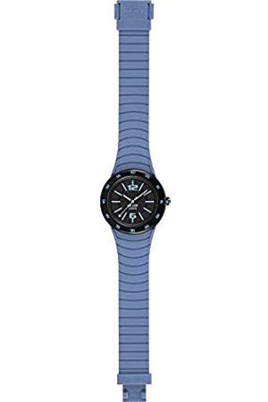 Hip Armbanduhr HIP HOP Mann Metal SOLARE quadrante schwarz e uhrarmband in silizium, Metall blau