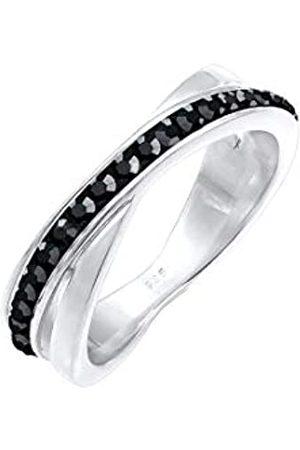 Elli Elli Ring Damen Wickelring mit Swarovski Kristallen in 925 Sterling