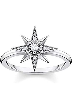 Thomas Sabo THOMAS SABO Damen Ring Stern Silber 925 Sterlingsilber