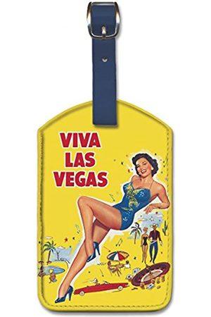 Pacifica Island Art Pacifica Island Art Gepäckanhänger aus Kunstleder – Viva Las Vegas