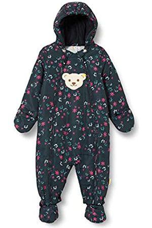 Steiff Steiff Baby-Unisex mit süßer Teddybärapplikation Schneeanzug, Navy