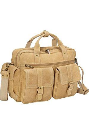 David King & Co David King & Co. Double Pocket Aktentasche (beige) - 6110T
