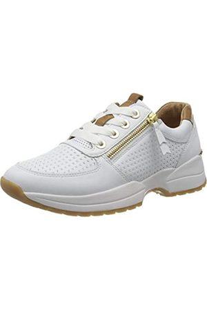 Gabor Damen Comfort Basic 46.328 Sneaker, (Weiss/Cognac(Gepr) 51)