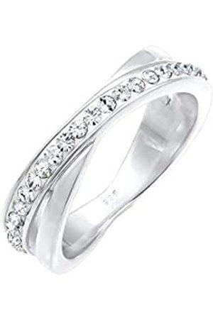 Elli Elli Ring Damen Wickelring mit Swarovski Kristallen in 925 Sterling Silber