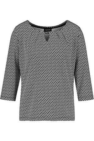 Taifun Damen Shirts - Damen 3/4 Arm Shirt mit Allover-Print figurumspielend 42