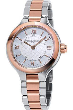 Frederique Constant Frédérique Constant Damen Analog Swiss Automatic Uhr mit Edelstahl Armband FC-281WH3ER2B