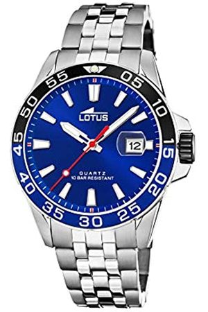 Lotus Herren Uhren - Herren Analog Quarz Uhr mit Edelstahl Armband 18766/1