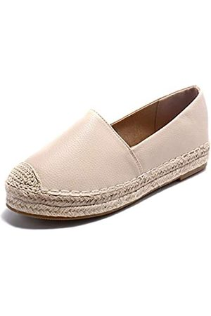 ALEXIS Damen Espadrilles mit geschlossenem Zehenbereich, flache bequeme Schuhe