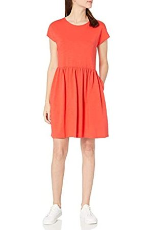 Goodthreads Damen Freizeitkleider - Heavyweight Cotton Slub Short-sleeve Gatheredwaist Easydress dresses