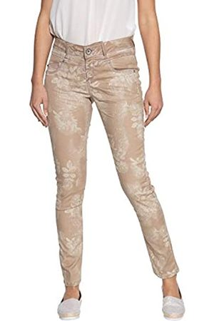 ATT ATT Jeans Damen Stretchhose | Mit Oilwash | Mit Floralem Muster | Slim Fit Zoe