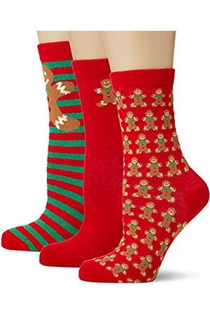 Urban classics Unisex Christmas Gingerbread Lurex 3-Pack Socken