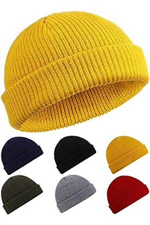 SATINIOR SATINIOR Trawler Beanie Watch Hut Rollup Edge Schädeldecke Fisherman Winter Beanie Hut Unisex