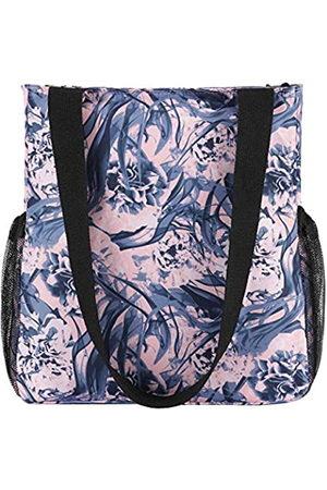 Abberry Damen-Handtasche mit Blumenmuster, große Schultertasche, modische Handtasche mit Reißverschluss, für Strand, Schwimmen, Schule, Einkaufen, Reisen, (Mysterious Domain of Flowers)