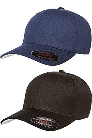 Flexfit Flexfit Herren V-Baumwoll-Twill Fitted Hat 2er Pack Gr. S/M