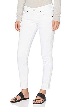 Herrlicher Herrlicher Damen Touch Cropped Denim White Stretch Slim Jeans