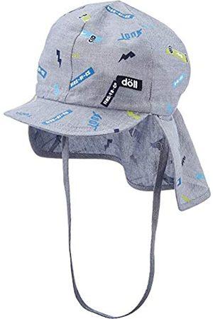 Döll Jungen Bindemütze mit Schirm und Nackenschutz Mütze 
