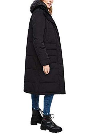 s.Oliver Damen Langarm Regular FIT Wollmischungs-Mantel