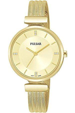 Pulsar Pulsar Quarz Damen-Uhr Edelstahl mit Metallband PH8470X1