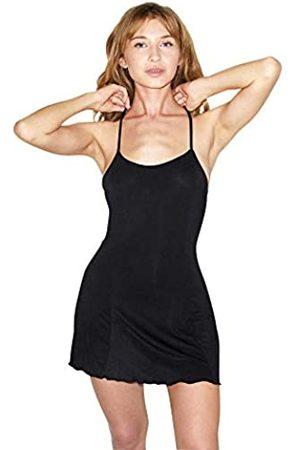 American Apparel Damen Mix Modal Sleeveless Crossback Slip Dress Unterhemdchen