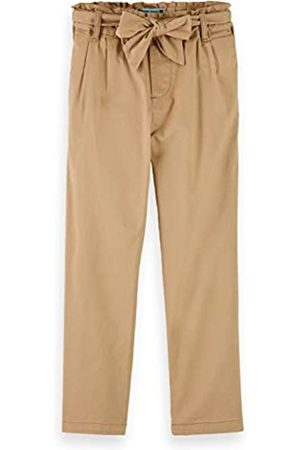 Scotch&Soda Scotch & Soda R´Belle Girls Relaxed Slim fit Paper-Bag Waisted Pants with Bow Detail Jeans