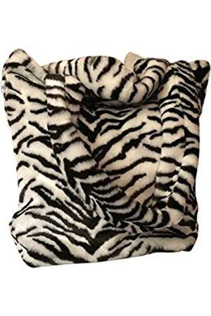 CHC-Beverly Hills Unisex-Erwachsene Luxurious Signature Fluffy Fur Weekender Bag Tiger-Print Large Übernachtung Duffel
