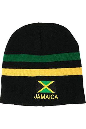 Armycrew Herren Hüte - Grüne, gelbe gestreifte Jamaika-Flagge und Text
