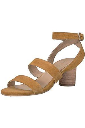 KAANAS Damen Noosa Open Toe Heeled Ankle Strap Shoe Flache Sandale