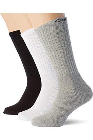 Calvin Klein Socks mens Calvi n Klein 6er Pack Freizeitsocken, Mehrfarbig (white-2,oxford mel-2,black-2 99), 40/46 Socks