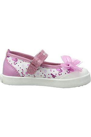 Geox Geox Mädchen B Kilwi Girl E Ballerinas, Pink (White/Dk Pink C1364)