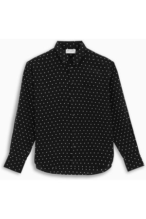 Saint Laurent Herren Shirts - Black/white polka dot shirt
