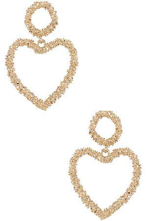 Ettika Heart Drop Earrings in .