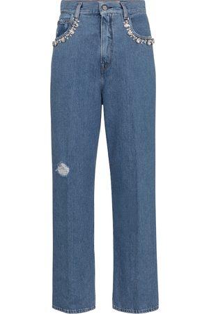 Golden Goose Verzierte High-Rise Straight Jeans Kim