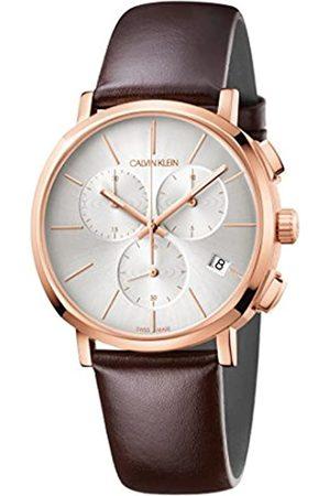 Calvin Klein Calvin Klein Herren Chronograph Quarz Uhr mit Leder Armband K8Q376G6