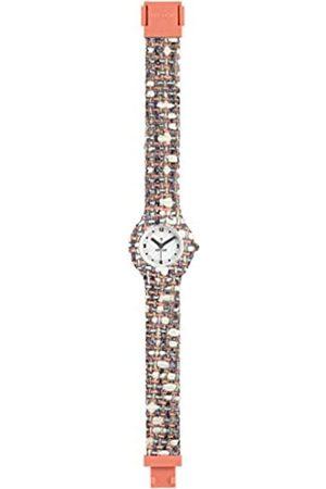 Hip Armbanduhr HIP HOP Frau Tweed quadrante Weiss e uhrarmband in silikon, Stoff rosa