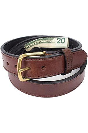 Yoder Leather Company Versteckte Geldtasche Reise Ledergürtel - - 111.76 cm (Taille 42)