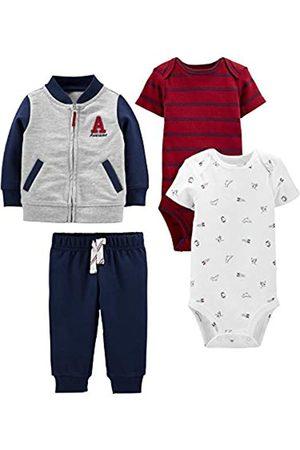 Simple Joys by Carter's Simple Joys by Carter's 4-Piece Fleece Jacket, Bodysuit infant-and-toddler-pants-clothing-sets, blau/rot