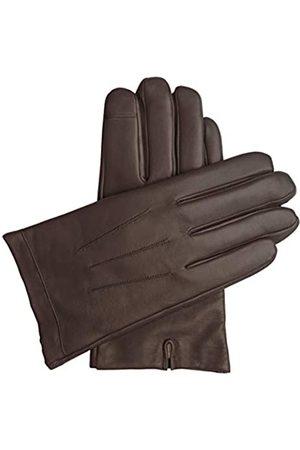 Downholme Downholme – Touchscreen-Lederhandschuhe mit Innenfutter aus Kaschmir – für Herren (Braun