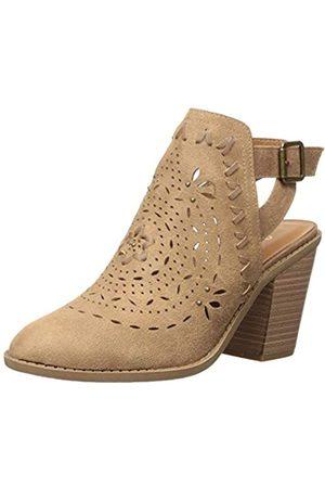 Sugar Damen Rilla Perforated Open Back Block Heel Ankle Boot Stiefelette