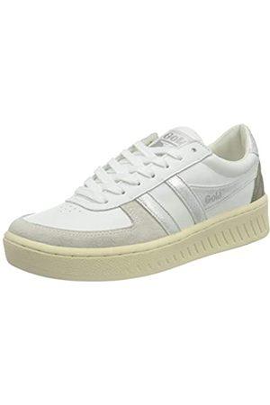 Gola Damen Grandslam Metallic Sneaker, White/Silver