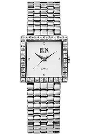 CLIPS Clips Damen Analog Uhr mit Metall Armband