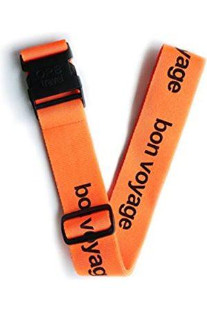 ORB Travel ORB Travel-LS200-OB-Bon Voyage -Orange/Black-Premium Designer Luggage Strap 2mx5cm