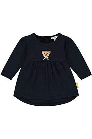 Steiff Steiff Baby-Mädchen mit süßer Teddybärapplikation Tunika, Navy