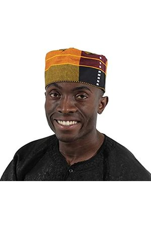 OMAQA Kente Kufi Hut Stil #3: Herren Cap | Fashion African Print Stoff (mehrfarbig)