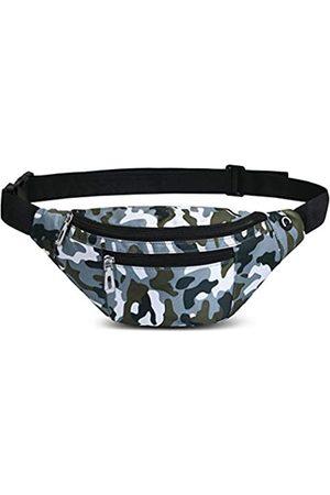 PPXGOGO Bauchtasche für Damen und Herren, modische wasserdichte Hüfttaschen mit verstellbarem Gürtel, lässige Bauchtasche für Reisen, Sport, Laufen, Camouflage