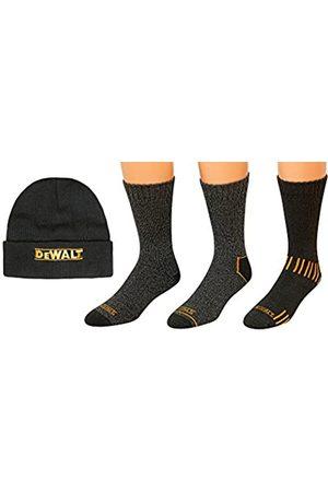 DeWalt Herren Hüte - 3 Pair Everyday Cotton Blend Work Crew Socks and Fleece Hat Set