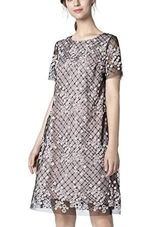 Apart APART Damen Mesh- Kleid mit kurzen transparenten Ärmeln