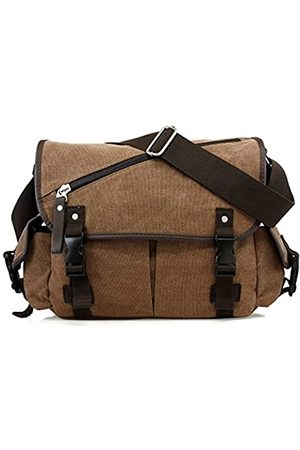 Oct17 Oct17 Herren Kuriertasche Schule Schulter Canvas Vintage Crossbody Military Satchel Bag Laptop Größe: L