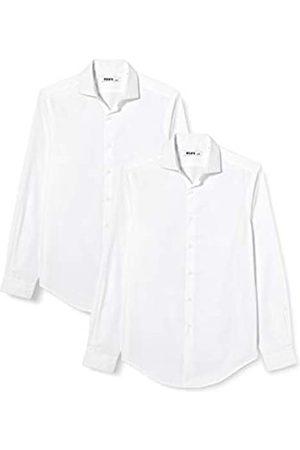HIKARO Herren Business - HIK0024AM Formelle/Business Shirts 42