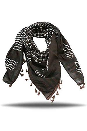 Scarf Palestine Palästinensischer Kufiya-Schal, hochwertiger arabischer Keffiyeh-Schal, 119,4 cm, 119,4 cm